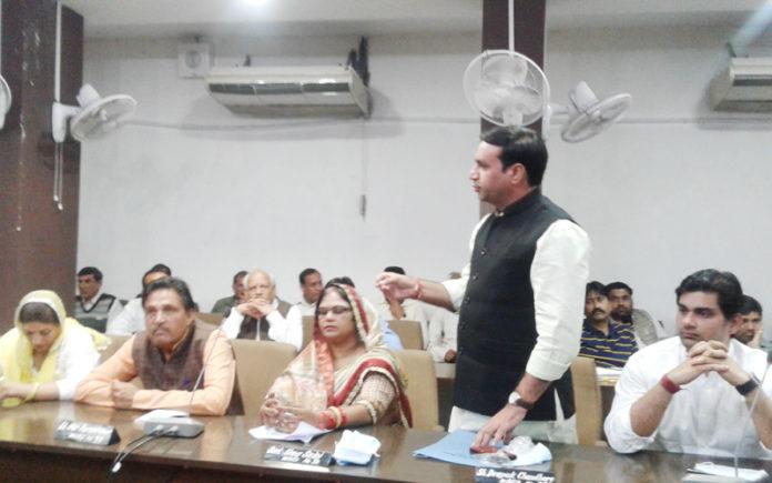 sadan meeting in nagar nigam faridabad