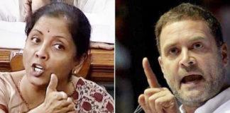 nirmala sitharaman vs rahul gandhi